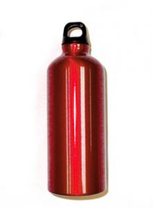 Bison 0.6 L Aluminum Water Bottle (Red)
